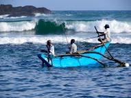Sri lankan fisher men coming back from a long days work, Marissa, Sri Lanka.