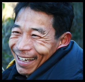 Happy sherpa in Nepal