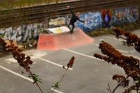 Blunt slide along the bricks, Sheffield.