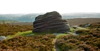 Groovy rock in the National Peak District, Sheffield.